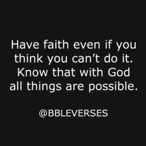 All Things Are Possible 🙏